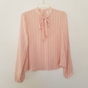 Forever 21 Exclusive Pussy Bow Blouse Size Medium